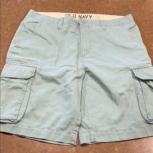 NWTR Old navy teal cargo shorts men's 36